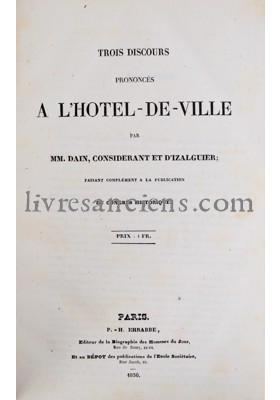 Photo DAIN, Charles || CONSIDERANT, Victor || D'IZALGUIER, Eugène.