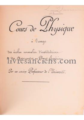 Photo [COURS DE PHYSIQUE].