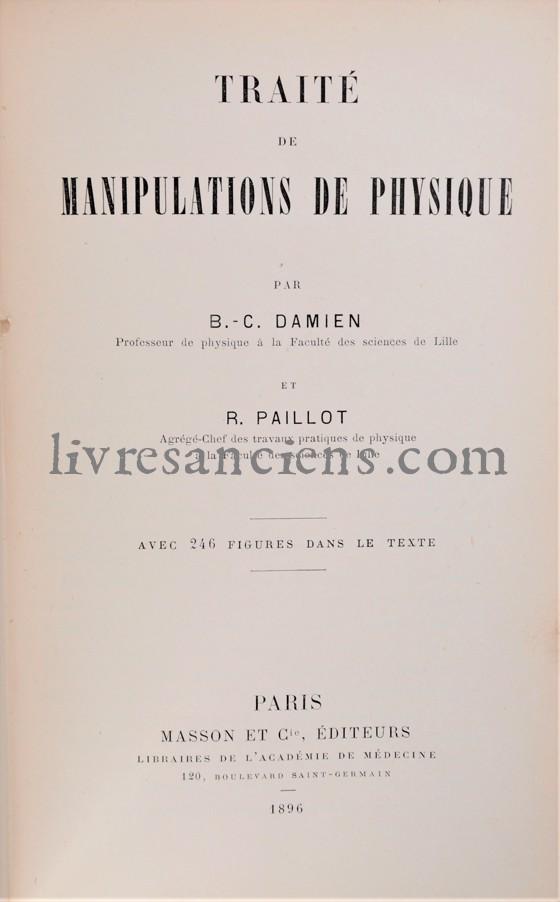 Photo DAMIEN, Benoît-Côme    PAILLOT, René.