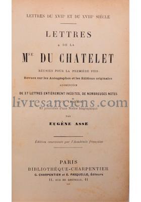 Photo CHATELET, Émilie (Marquise du) || ASSE, Eugène.