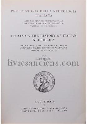 Photo HISTOIRE DE LA NEUROLOGIE ITALIENNE.