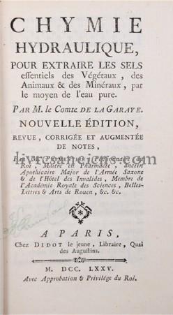 Photo LA GARAYE, Claude Tousaint Marot, Comte de.