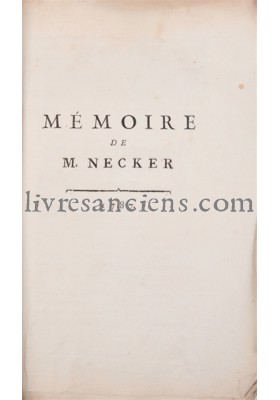 Photo NECKER, Jacques.