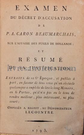Photo BEAUMARCHAIS, Pierre-Augustin Caron de.
