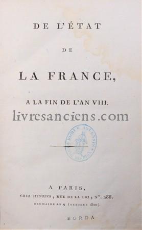Photo [BLANC DE LANAUTTE, COMTE D'HAUTERIVE, Alexandre Maurice].