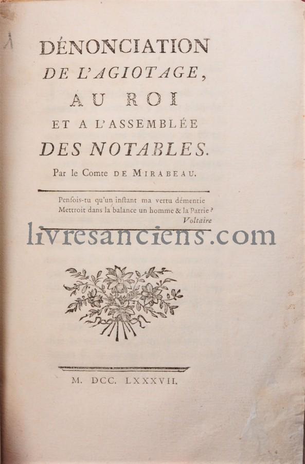 Photo MIRABEAU, Honoré Gabriel de Riqueti, comte de.