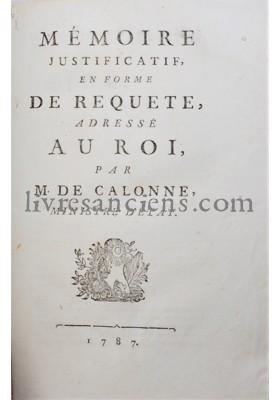 Photo CALONNE, Charles-Alexandre de.
