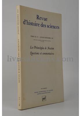 Photo Revue d'histoire des sciences.
