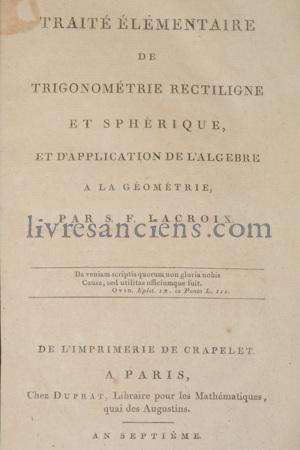 Photo LACROIX, Sylvestre-François.