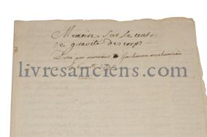 Photo [Manuscrit] GANTEAUME.