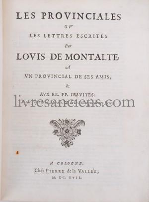 Photo [PASCAL, Blaise]. MONTALTE, Louis de.