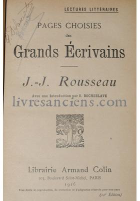 Photo ROUSSEAU, Jean Jacques.
