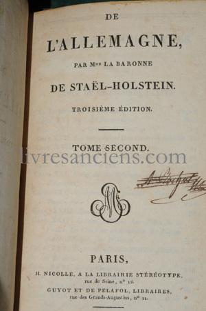 Photo STAEL-HOLSTEIN, Anne-Louise-Germaine Necker (dite Mme de Staël).