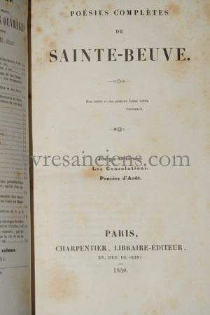 Photo SAINTE-BEUVE, Charles Augustin.
