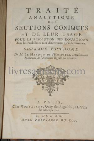 Photo L'HOSPITAL, Guillaume François Antoine, Marquis de.