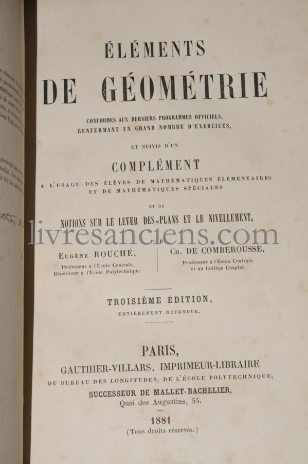 Photo ROUCHE, Eugène || DE COMBEROUSSE, Charles.