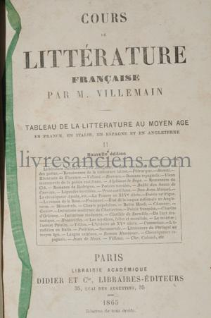 Photo VILLEMAIN, Abel François.