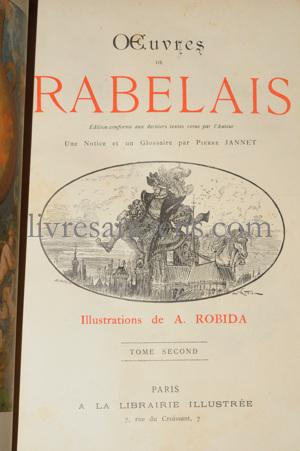 Photo RABELAIS, François || ROBIDA, Albert.