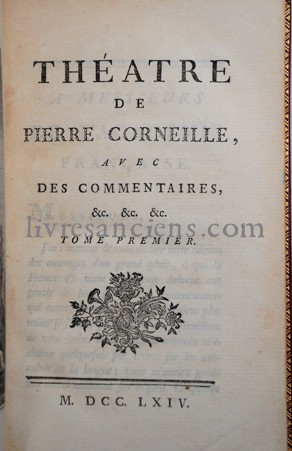 Photo CORNEILLE, Pierre [VOLTAIRE].