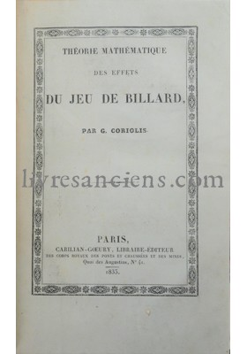Photo CORIOLIS, Gustave Gaspard.