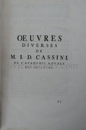 Photo ACADÉMIE ROYALE DES SCIENCES    CASSINI, Jean-Dominique.