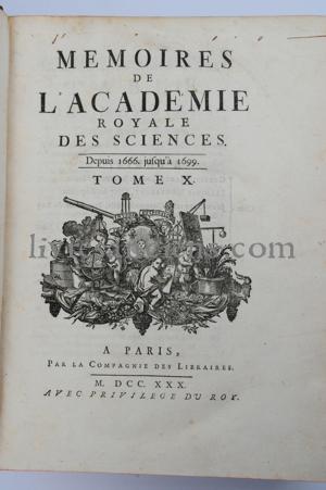 Photo ACADÉMIE ROYALE DES SCIENCES || LA HIRE, Philippe de || CASSINI || ROLLE || VARIGNON || HOSPITAL || TOURNEFORT || CHARAS.