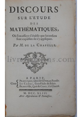 Photo LA CHAPELLE, Abbé Jean-Baptiste de.