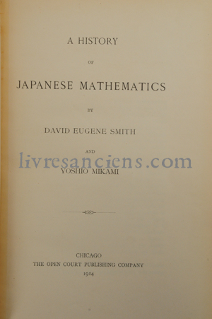 Photo SMITH, David E.    MIKAMI, Yoshio.