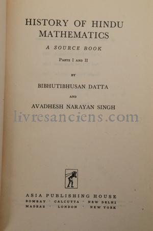 Photo DATTA, Bibhutibhushan || SINGH, Avadesh Narayan.