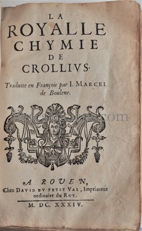 Photo CROLL, Oswald (Crollius).