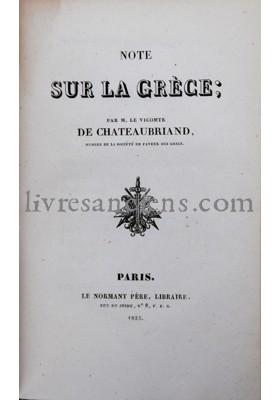 Photo CHATEAUBRIAND, François René de.