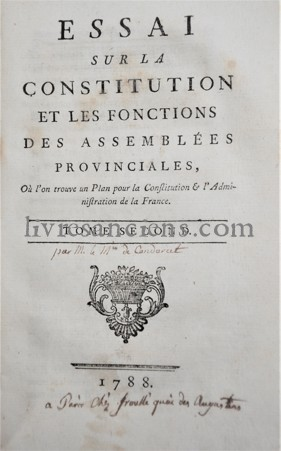 Photo [CONDORCET, Jean Antoine Nicolas de Caritat, marquis de].