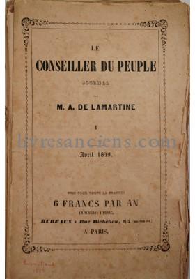 Photo LAMARTINE, Alphonse de.