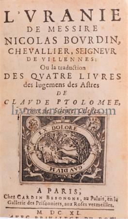 Photo PTOLEMAEUS, Claudius || PTOLOMÉE, Claude || BOURDIN, Nicolas.