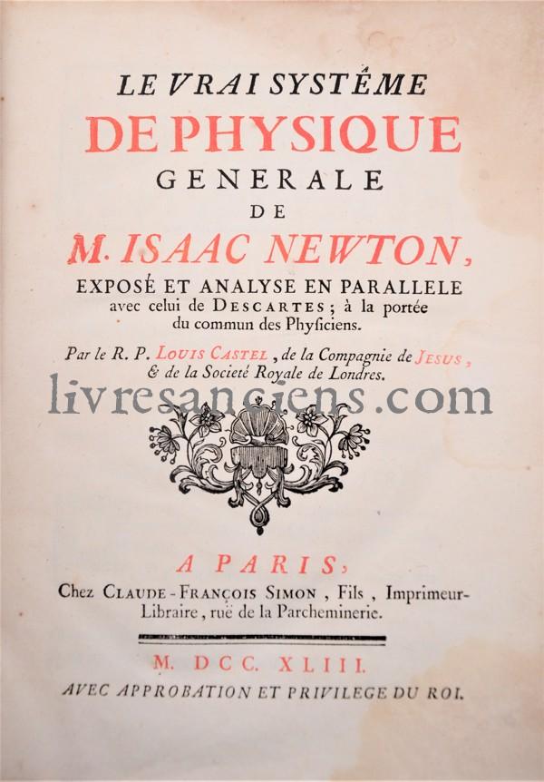Photo CASTEL, Louis-Bertrand    [NEWTON - DESCARTES}.