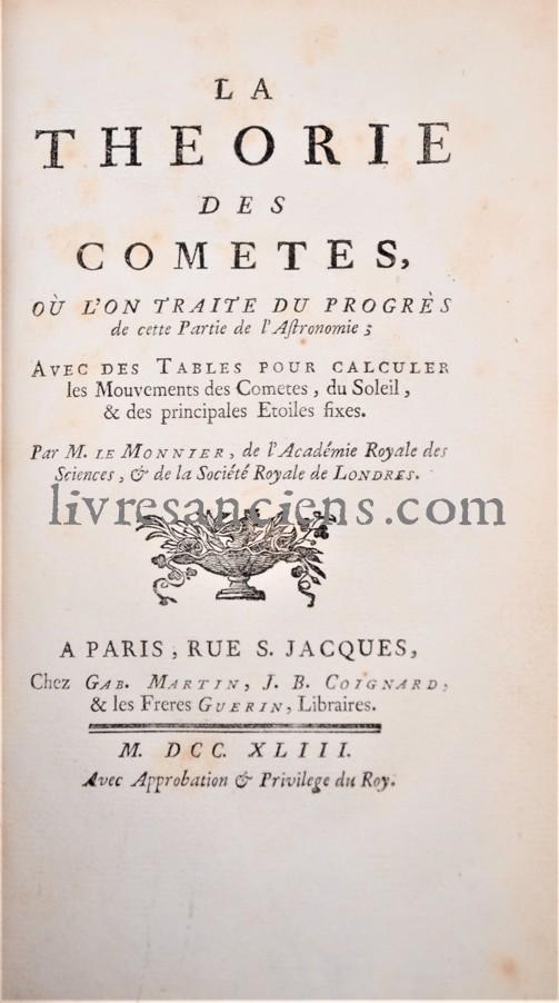 Photo LE MONNIER, Pierre-Charles || [HALLEY, Edmund].