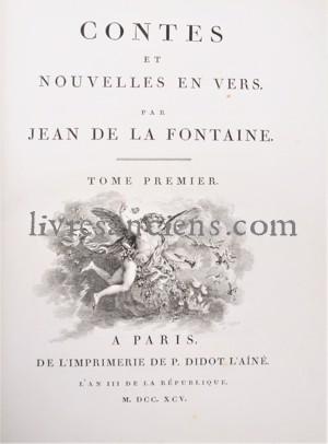 Photo LA FONTAINE, Jean de    FRAGONARD, Jean-Honoré.