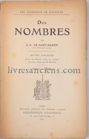Photo SAINT MARTIN, Louis Claude de.