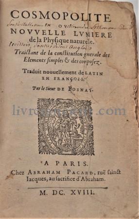 Photo [SENDIVOGIUS], [Sethon], Le Cosmopolite.
