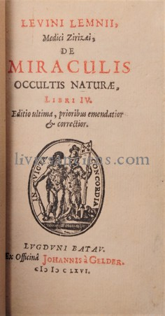 Photo LEMNIUS, Levinus.