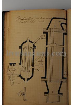 Photo Ecole des mécaniciens de la flotte. Brest. Cours manuscrit de Crémon Edmond.
